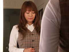 Office Bathroom Blowjob With Kaori Sucking Him Off