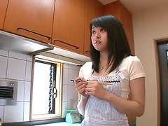 Lovely teen Nozomi Aiuchi dick riding and hardcore action too