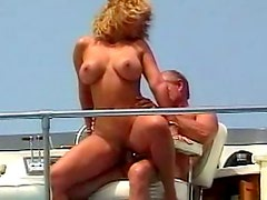 Big titty bikini blonde boned on a boat