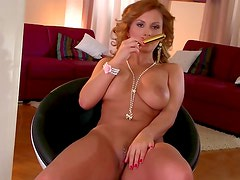 RedHead lady Dorothy Black dreaming about hard banging