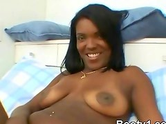 Black Horny Afro Slut Tasting White Dick In Bedroom