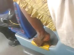 EBONY MILF'S FEET ON A BUS IN COVENTRY ENGLAND