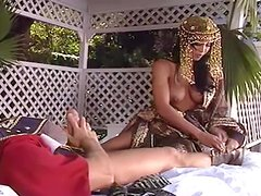 Rocco Siffredi fucks sexy brunette Diva after she's sucked his cock and toes