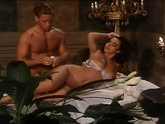 Rocco Siffredi fucks a hot brunette and eats her snatch