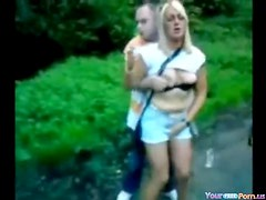 UK Partyslut Fucks In The Park