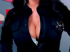 Jayden Jaymes uniform tease and hardcore sex