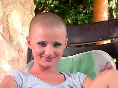 Bald prostitute dreaming about hardcore anal banging