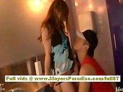 Rio Naughty Asian girl likes lots of pussy fondling