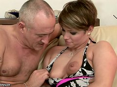 Sexy milf loves when he plays with her tasty pussy