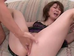 Pussy fingered and then he takes her ass