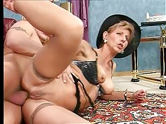 Older german lady getting her butt fucked hard