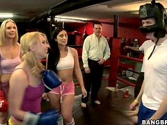 Knock Out Orgy With Hot Babes, A Horny Boxer And His Boxer