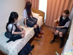 Sexy Japanese Schoolbabes Learn Sex the Kinky Way