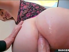 Her big ass is perfect during an anal sex video