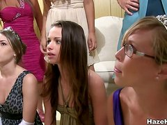 A Big Slumber Party Changes Into A Lesbian Lick For All