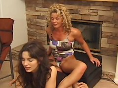 Kinky ladies smother sub guy in video