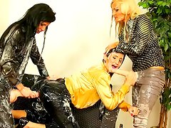 Amazing Gabrielle Gucci,Gina Devine,Jenna Lovely with rubber cocks