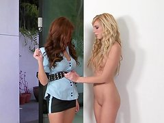 Hayden Hawkens strips for girl cop