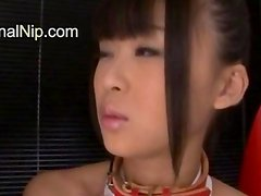Petite hairy Tokyo girl toying snatch