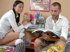 Hot college girl Hanna gets fucked hard by her teacher