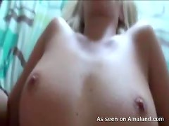 Amazing Blonde Sucks Dicks and Gets Fucked