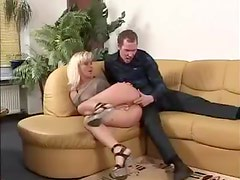 She gags on his big cock
