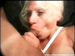 Anal sex and sucking with mature blonde
