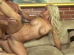 Slutty Cayden Moore sucks big dick and gets her pussy drilled