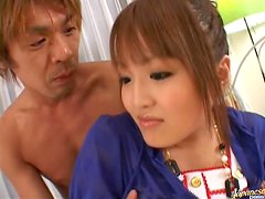 Beautiful Japanese Babe Gets Cum On Face After Fuck'd