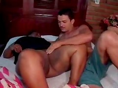 Big chubby ebony seductress enjoys interracial loving