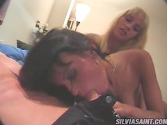 Hot Threesome With Cock Hungry Sluts.