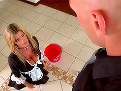 French maid Kristal Summers fucked
