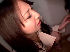 Haruna Nakayama plays with her snatch and gets a facial cumshot
