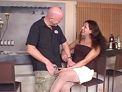 Bald Guy Gets Himself A Tranny
