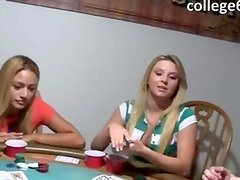 Young girls sexing on poker night