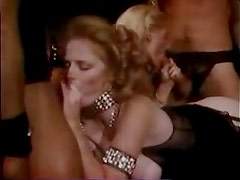 An orgy in arousing vintage video