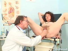 Giving the pussy an enema and speculum view