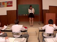 Group Of Trainee Teachers Gangbang The Only Chick