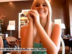 Alexis _ Amateur blonde flashing her tits in a public place