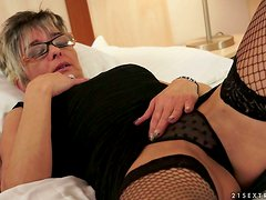 Granny's Afternoon Hobby Is Masturbating Her Wet Pussy