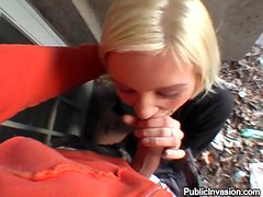 Blonde Teen Gives The Best Head In POV