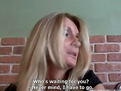 Hot blonde babe goes crazy sucking