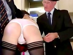 Stocking milf mmf blowjob and fuck