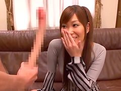 Beautiful Japanese Girl Sucks On A Long-Ass Cock