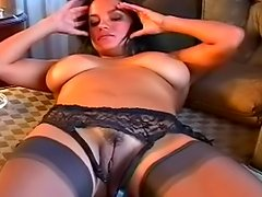 Smoking lady undressing herself so hot