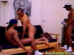 Black Gay Threesome Thugs Sucking Cock