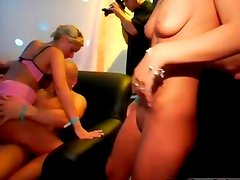 Horny blonde babes go crazy making out