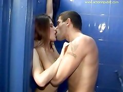Hot banging in public cubicle