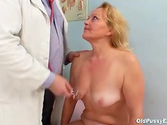 Fat ass blonde mature and her doctor