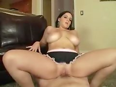Blue eyed curvy girl has sex with big cock